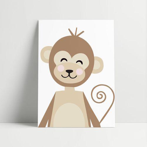 Quadro-Decorativo-Macaco-Moderno