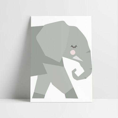 Quadro-Decorativo-Elefante-Moderno