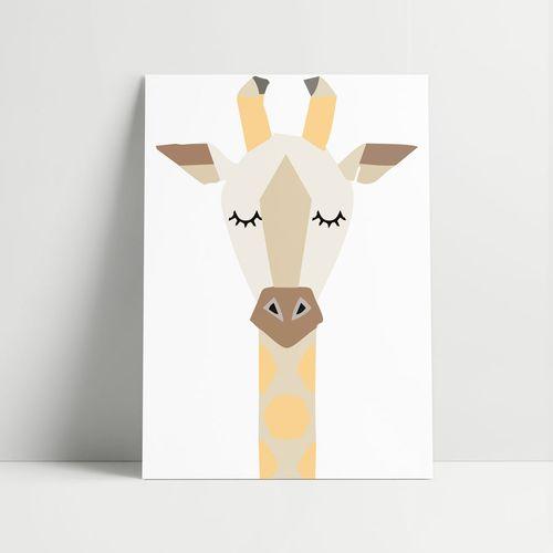 Quadro-Decorativo-Girafa-Moderna
