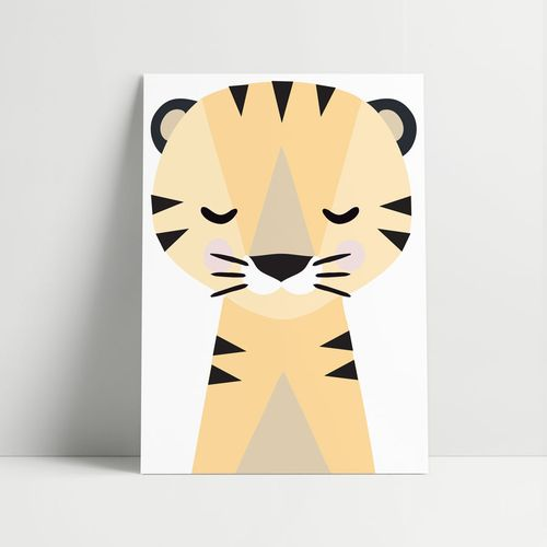 Quadro-Decorativo-Tigre-Moderno