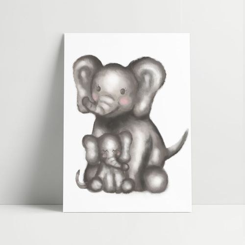 Quadro-Decorativo-Elefante-Aquarela