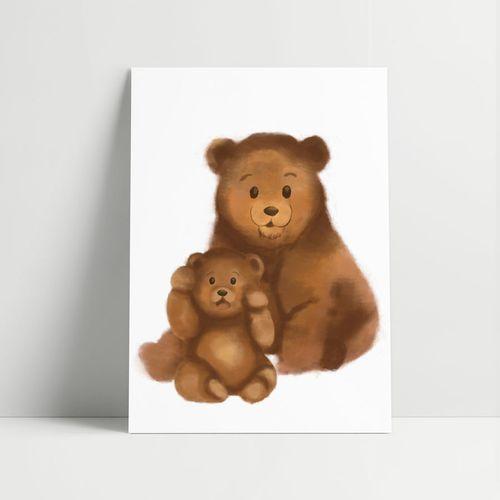 Quadro-Decorativo-Urso-Aquarela