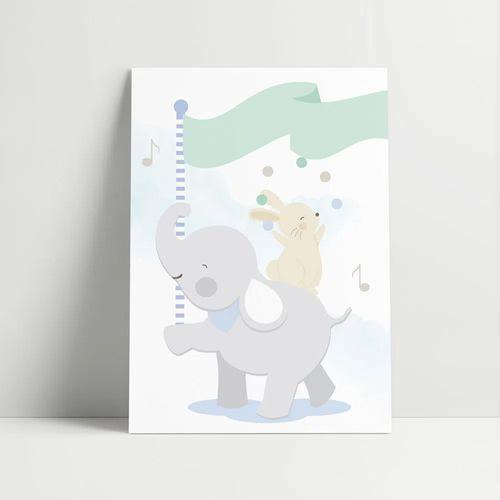 Gravura-Elefante-e-Coelho-Malabarista-Azul