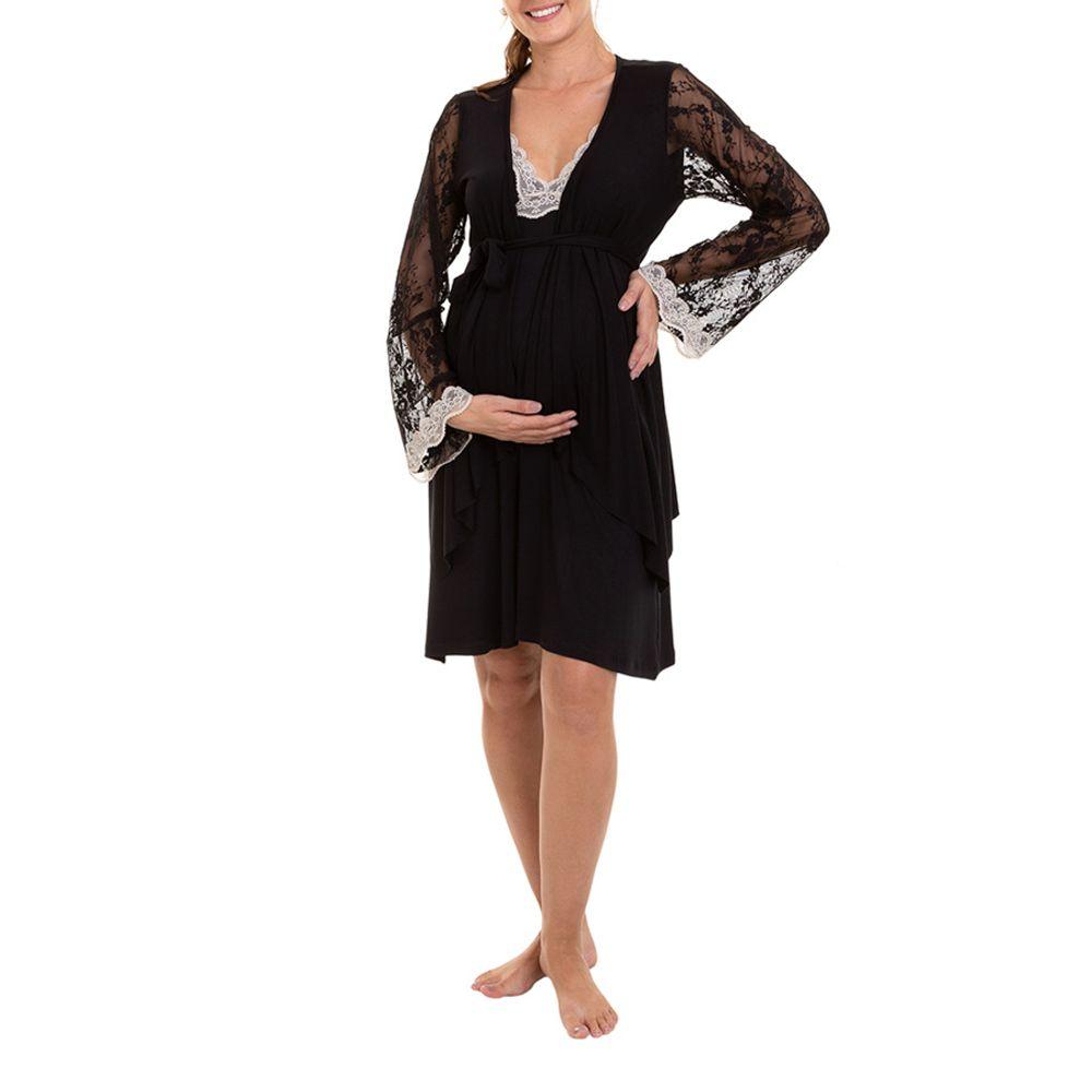 Camisola-Maternidade-com-Casaco-Yasmin-Preta-Frente