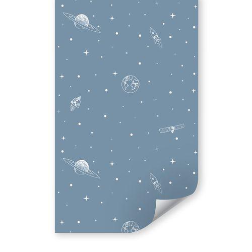 Papel de Parede Infantil Espaço Azul Clássico