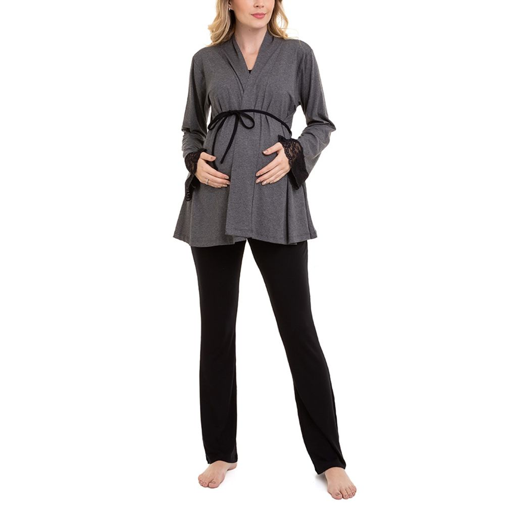 Pijama-Maternidade-Lia-3-Pecas-Mescla-Escuro-1