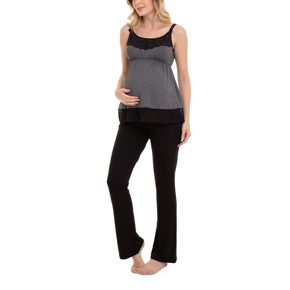 Pijama-Maternidade-Lia-3-Pecas-Mescla-Escuro-5