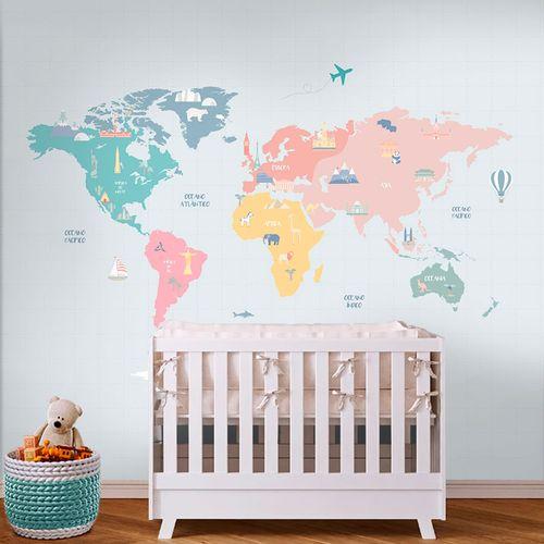 Mural-Mapa-Mundi-Colors-1