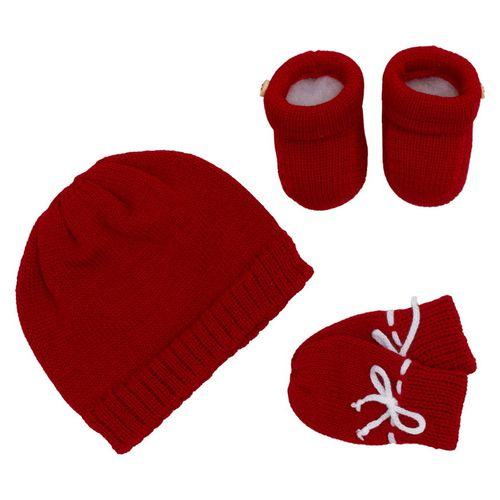 Kit-Touca-Luva-e-Sapato-com-Botao-Tricot---Vermelho-1