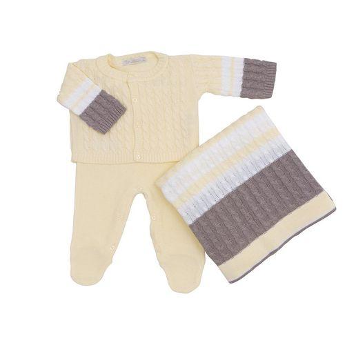 Saida-de-Maternidade-Tricot-Tranca-Classic-Amarelo---Kit-com-Manta-1