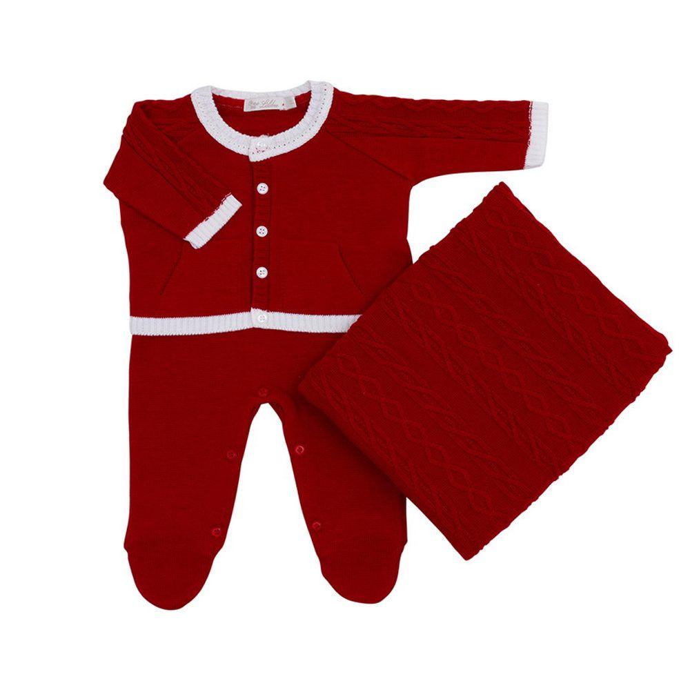 Saida-de-Maternidade-Tricot-Bolso-Canguru-Vermelho--Kit-com-Manta-1