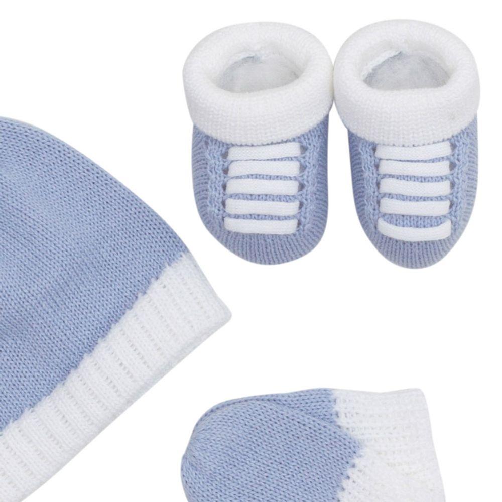 Kit-Touca-Luva-e-Tenis-Tricot---Azul-Claro-2