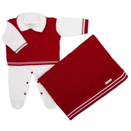 Saida-de-Maternidade-Tricot-Colete-Zig-Zag-Vermelho---Kit-com-Manta-2