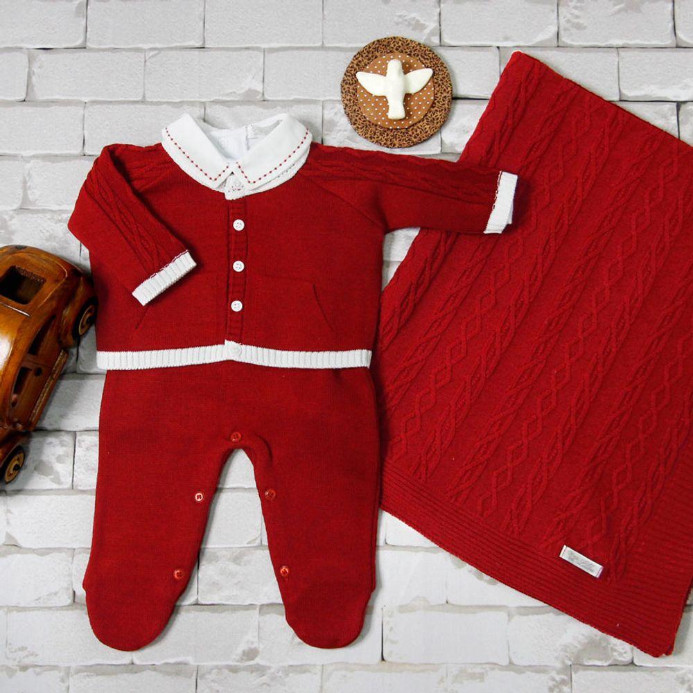 Saida-de-Maternidade-Tricot-Bolso-Canguru-Vermelho--Kit-com-Manta-3