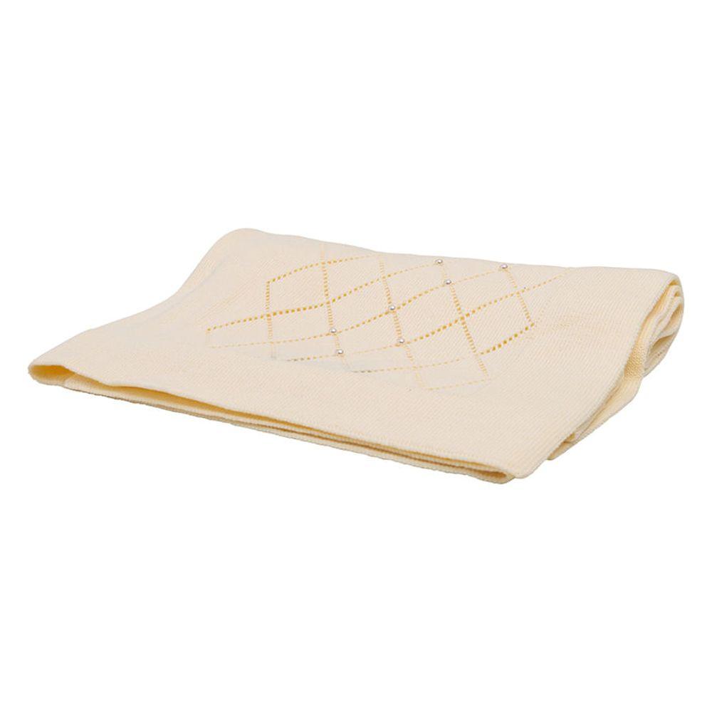 Manta-em-Tricot-Amarelo-com-Losangos-e-Perolas-10