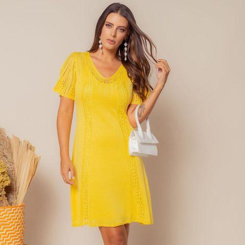 Vestido-Tricot-Curto-Soltinho-Amarelo-1