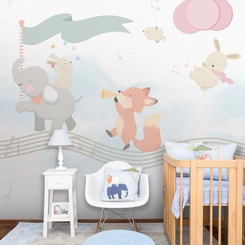 Mural-Banda-de-Animais-Rosa-1