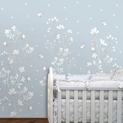 Mural-Floral-Classic-Azul-Claro-1
