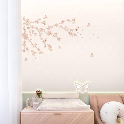 Mural-Floral-Raika-Cerejeira-Rosa-Lichia-1