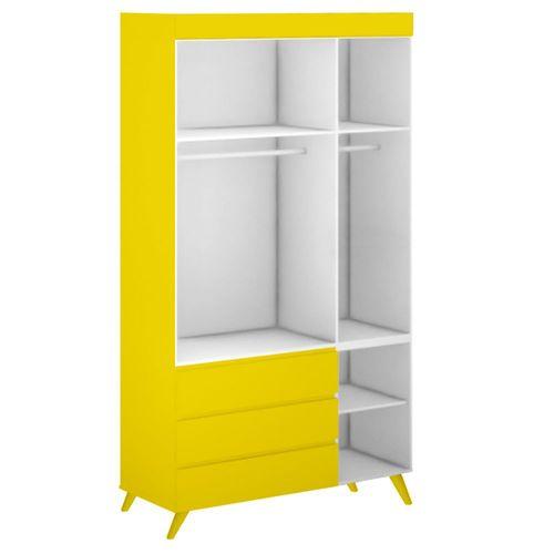 Guarda-Roupa-Infantil-Viena-Amarelo-Sol-2