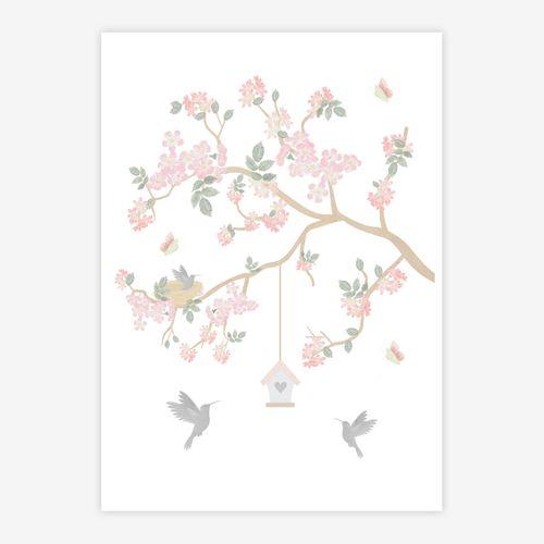Quadro-Infantil-Jardim-Liv-Galho-Esquerdo-Rosa-1