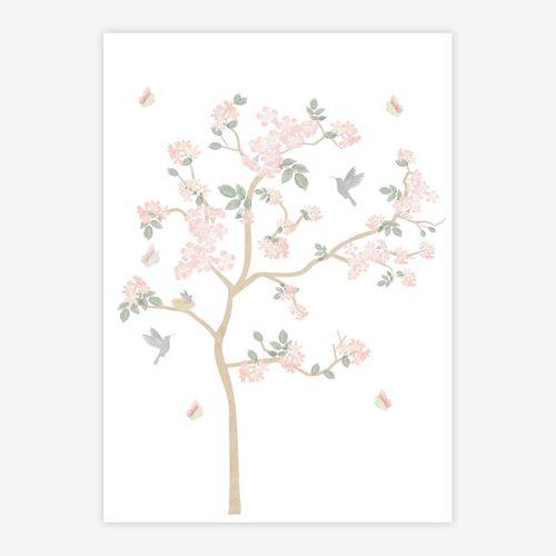 Quadro-Infantil-Jardim-Liv-Arvore-Rosa-1