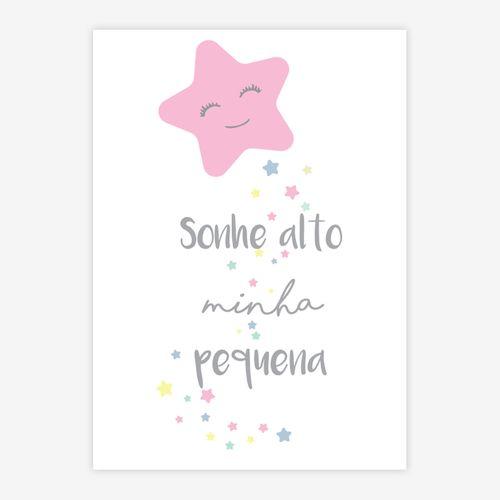 Quadro-Infantil-Estrela-Sonhe-Alto-Minha-Pequena-Rosa-1