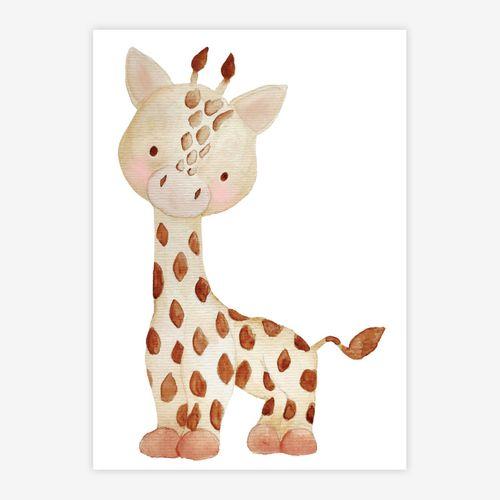 Quadro-Infantil-Selva-Girafa-Color-1