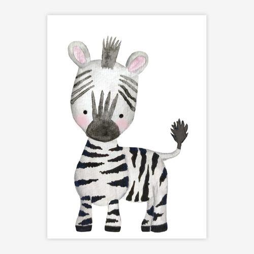 Quadro-Infantil-Selva-Zebra-Color-1