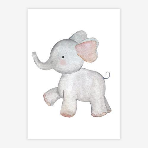 Quadro-Infantil-Selva-Elefante-Color-1