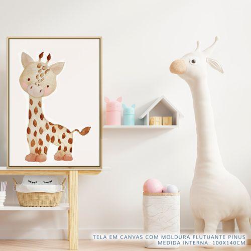 Quadro-Infantil-Selva-Girafa-Color-2