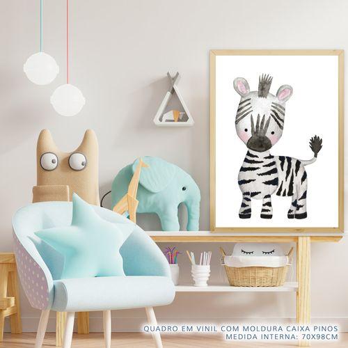 Quadro-Infantil-Selva-Zebra-Color-2