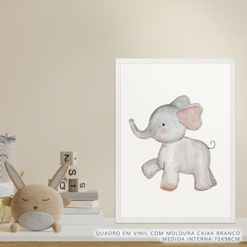 Quadro-Infantil-Selva-Elefante-Color-2