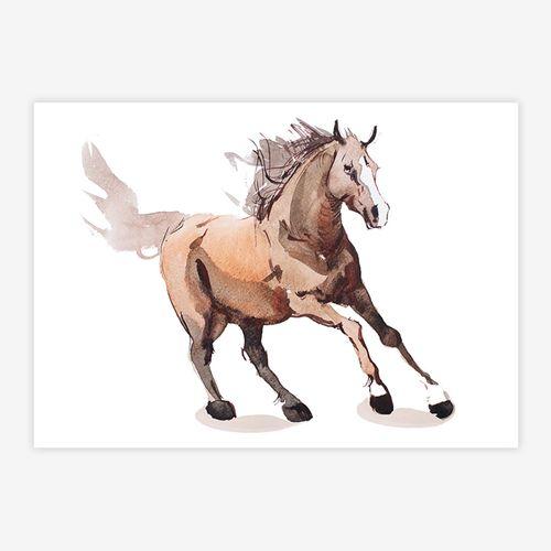 Quadro-Infantil-Cavalo-Bege-1