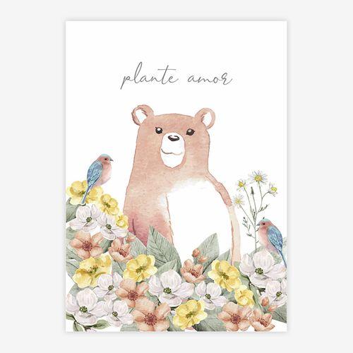 Quadro-Infantil-Urso-Plante-Amor-Coral-1