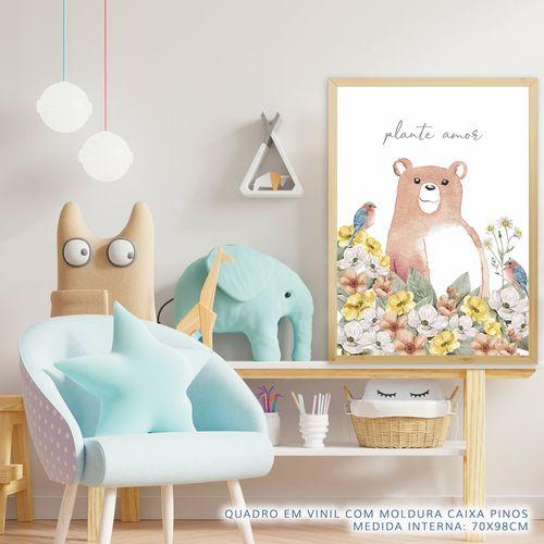 Quadro-Infantil-Urso-Plante-Amor-Coral-2