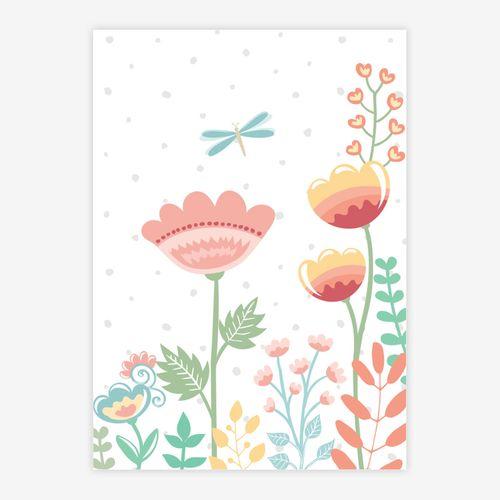 Quadro-Infantil-Floral-Moderno-Libelula-Color-1