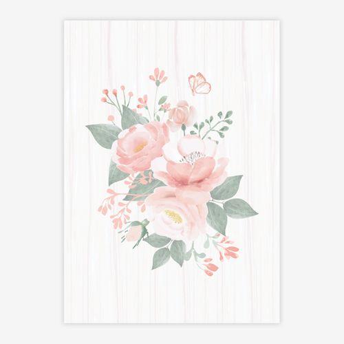 Quadro-Infantil-Bouquet-de-Flores-Rosa-1