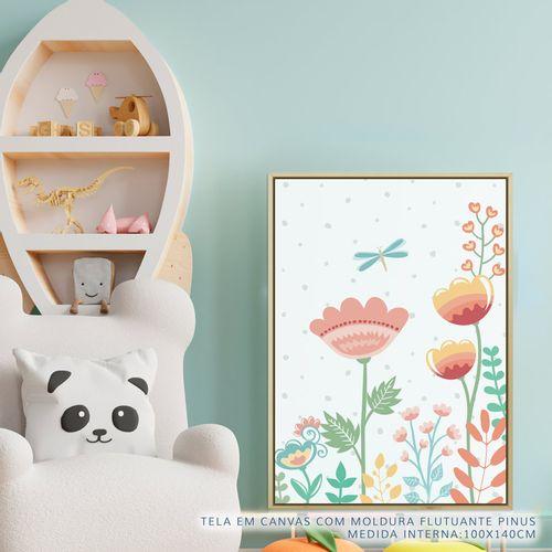 Quadro-Infantil-Floral-Moderno-Libelula-Color-2
