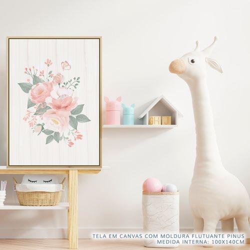 Quadro-Infantil-Bouquet-de-Flores-Rosa-2